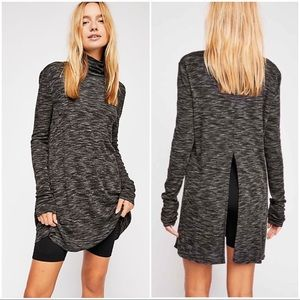 •FREE PEOPLE• Stonecold Turtleneck Tunic Top